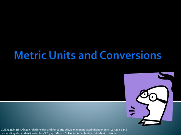 metric units and conversions n.