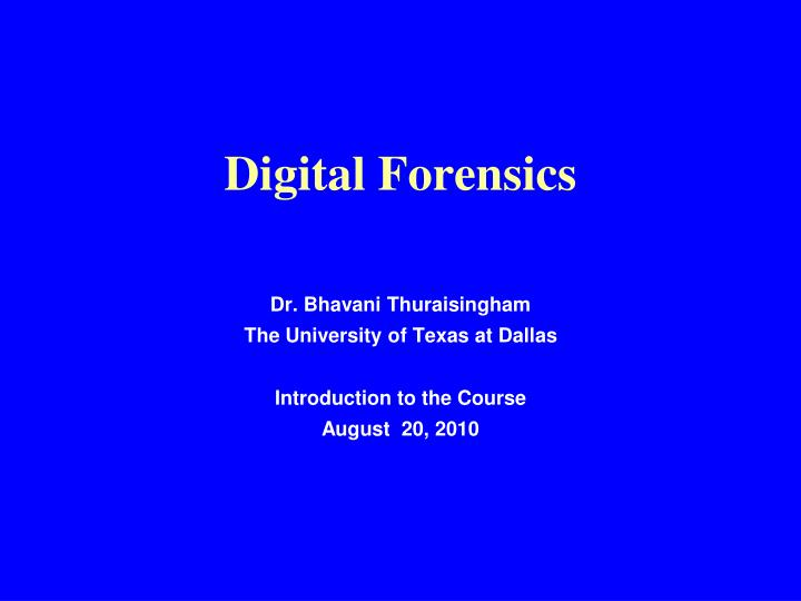 digital forensics n.