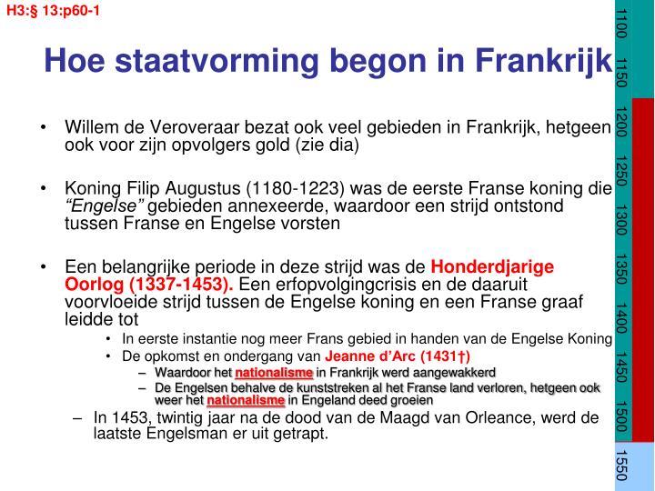 Hoe staatvorming begon in frankrijk