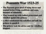 peasants war 1523 25