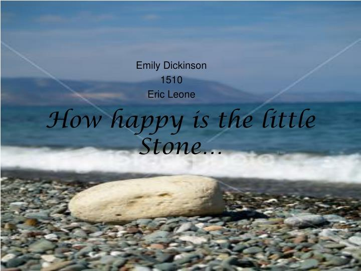 how happy is the little stone n.