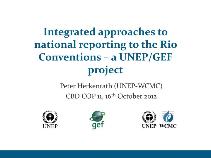integrated approaches to national reporting to the rio conventions a unep gef project n.