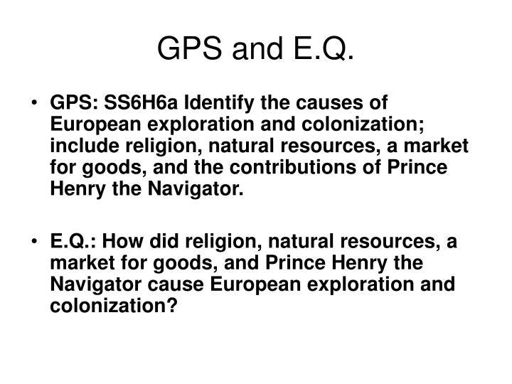 Gps and e q