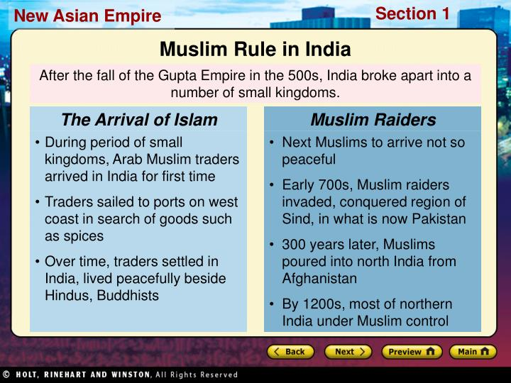 The Arrival of Islam