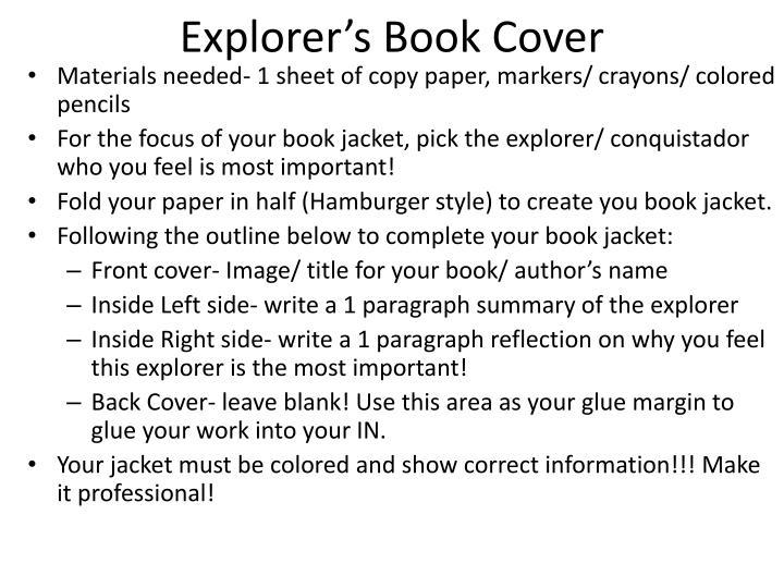 Explorer's Book Cover