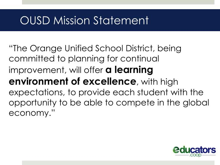 Ousd mission statement