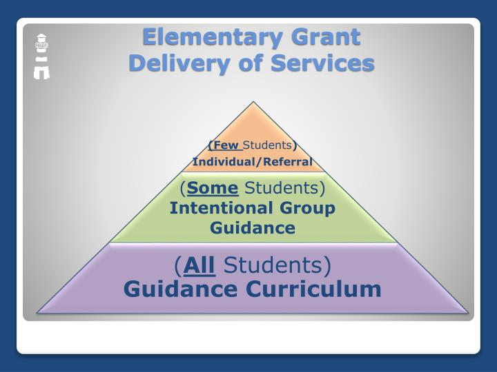 Elementary grant delivery of services