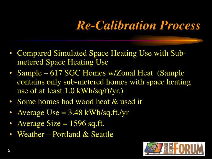 Re-Calibration Process
