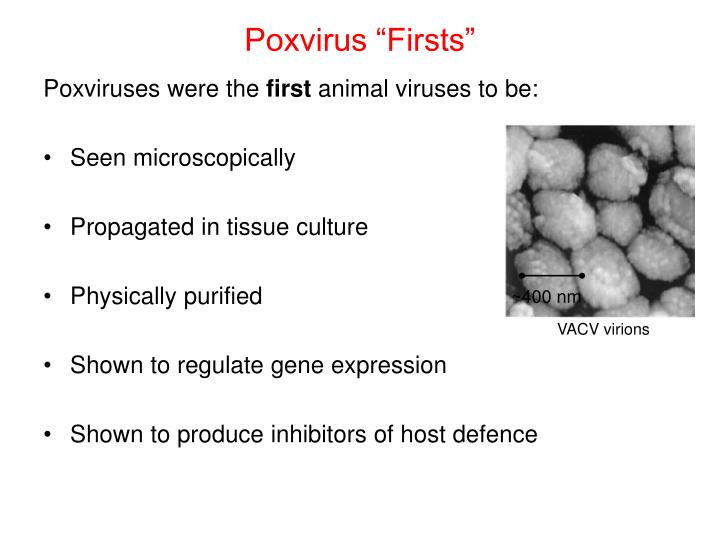 "Poxvirus ""Firsts"""