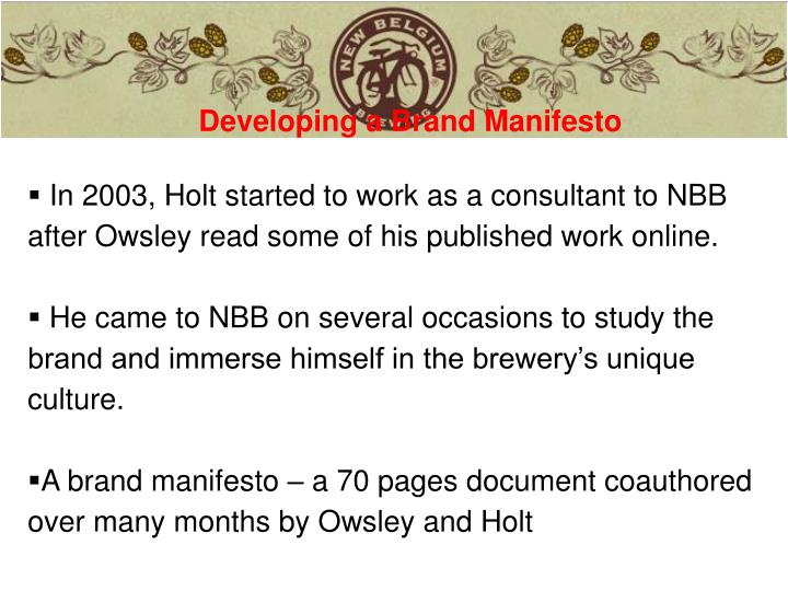 Developing a Brand Manifesto