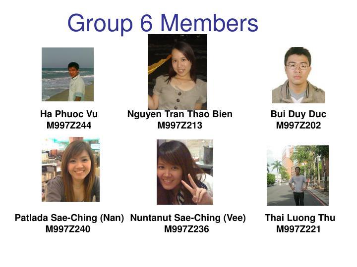 Group 6 Members