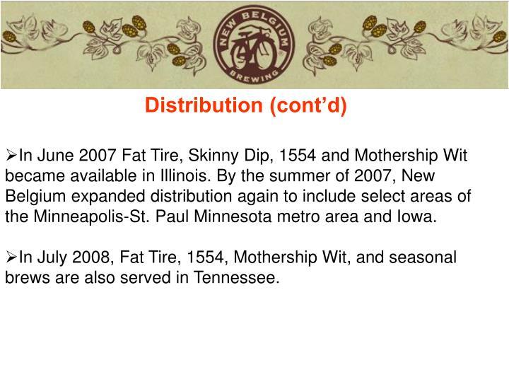 Distribution (cont'd)