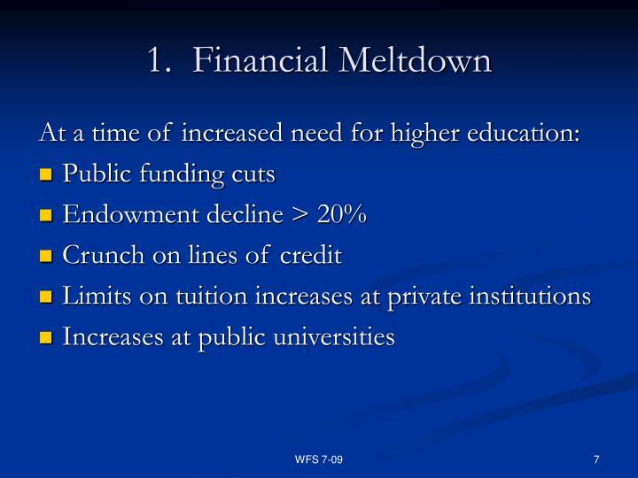 1.  Financial Meltdown