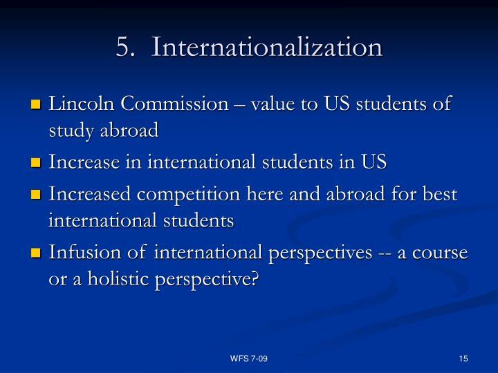 5.  Internationalization
