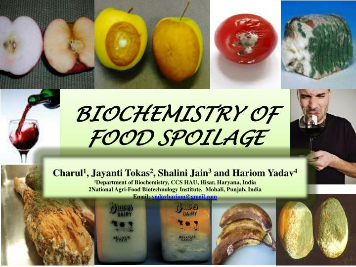 biochemistry of food spoilage n.