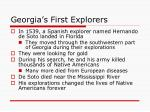 georgia s first explorers