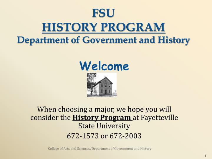 fsu history program department of government and history n.
