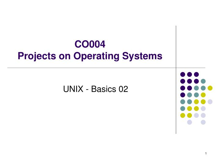 co004 projects on operating systems n.