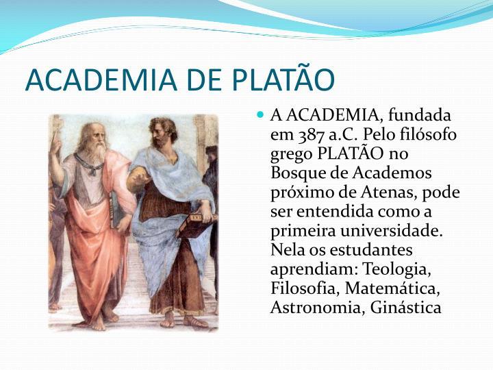ACADEMIA DE PLATÃO