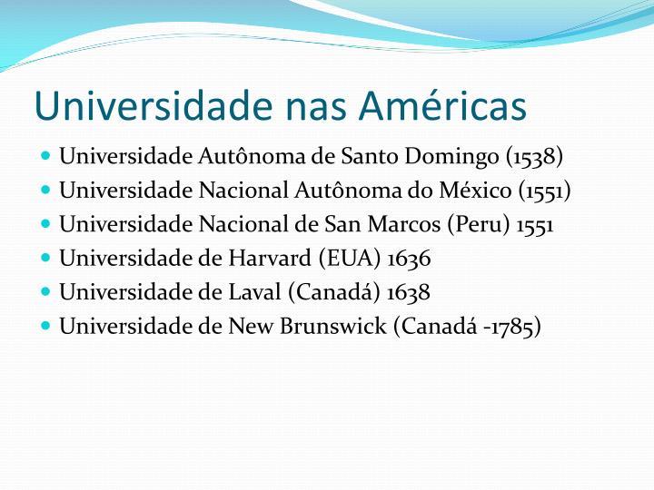 Universidade nas Américas