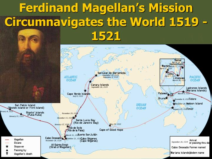 Ferdinand Magellan's Mission Circumnavigates the World 1519 - 1521