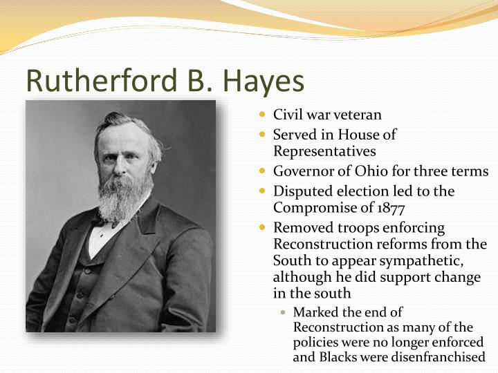 rutherfor b hayes domestic policies