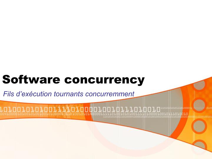 software concurrency n.