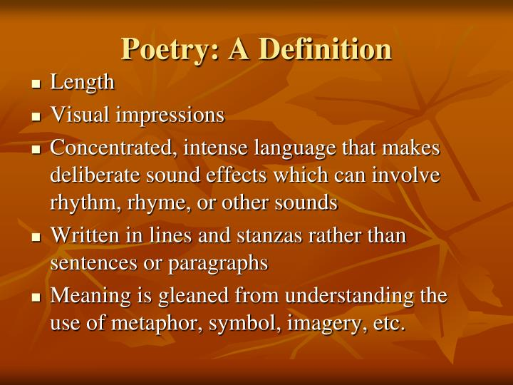 Ppt Introduction To Poetry Powerpoint Presentation Id5834229