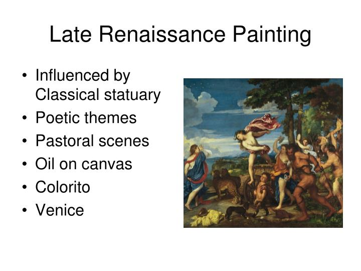 Late renaissance painting