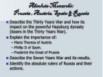 absolute monarchs prussia austria spain russia