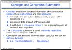 concepts and constraints submodels