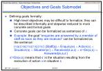 objectives and goals submodel2