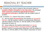removal by teacher excerpts from the texas education code