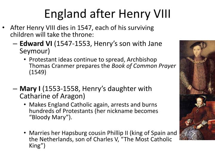 England after henry viii