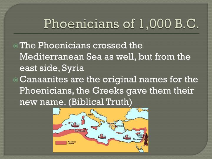 Phoenicians of 1,000 B.C.