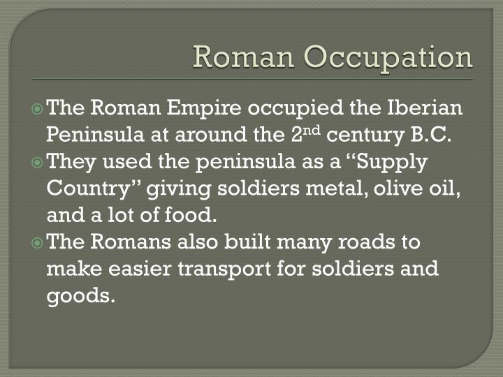 Roman Occupation