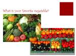 what is your favorite vegetable