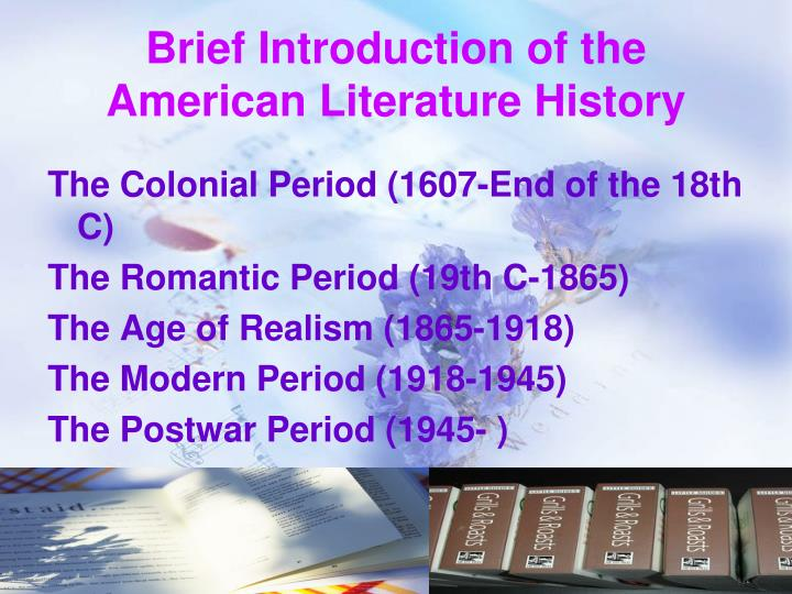 Brief introduction of the american literature history