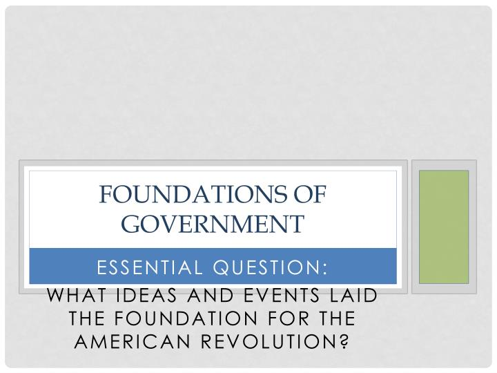 foundations of government n.
