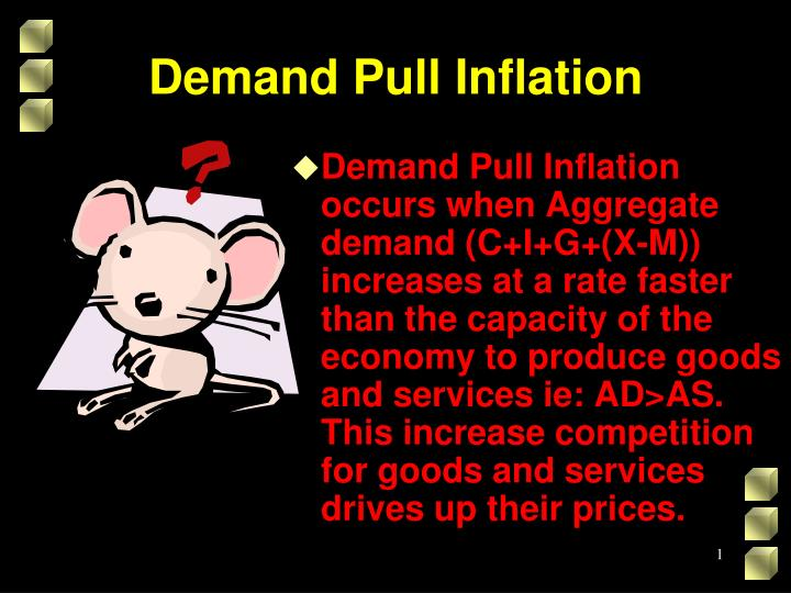 demand pull inflation n.