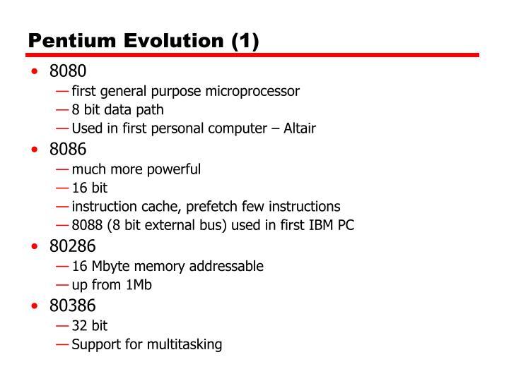 Pentium Evolution (1)