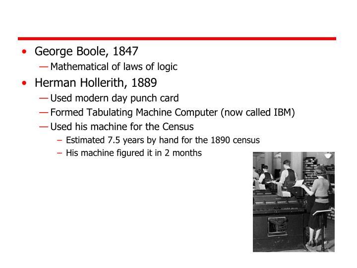 George Boole, 1847