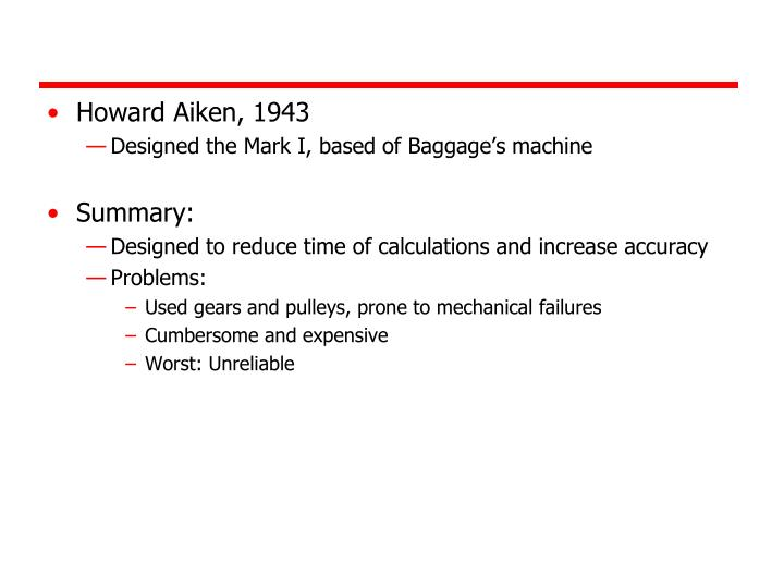 Howard Aiken, 1943