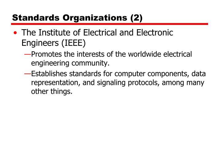 Standards Organizations (2)