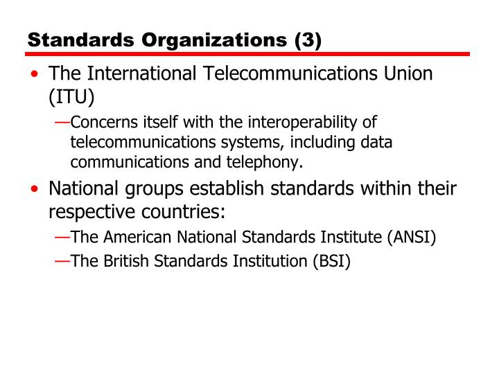 Standards Organizations (3)