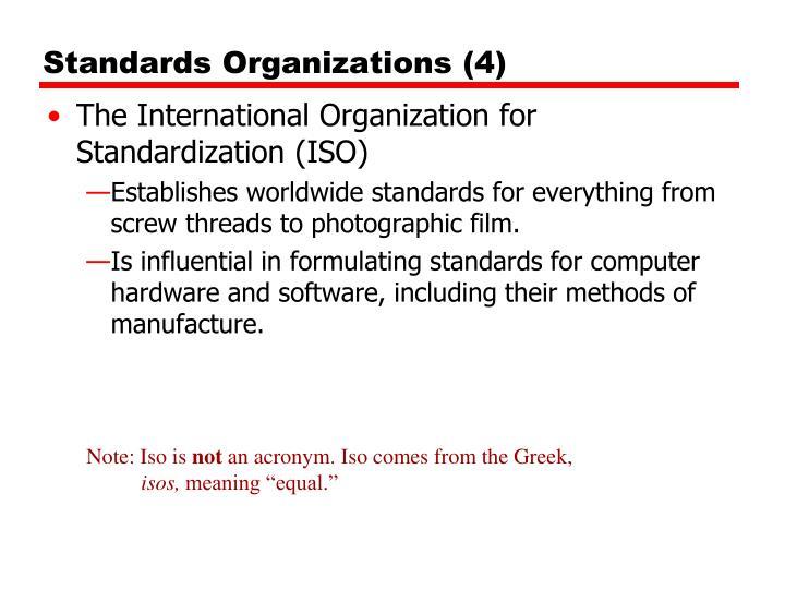 Standards Organizations (4)