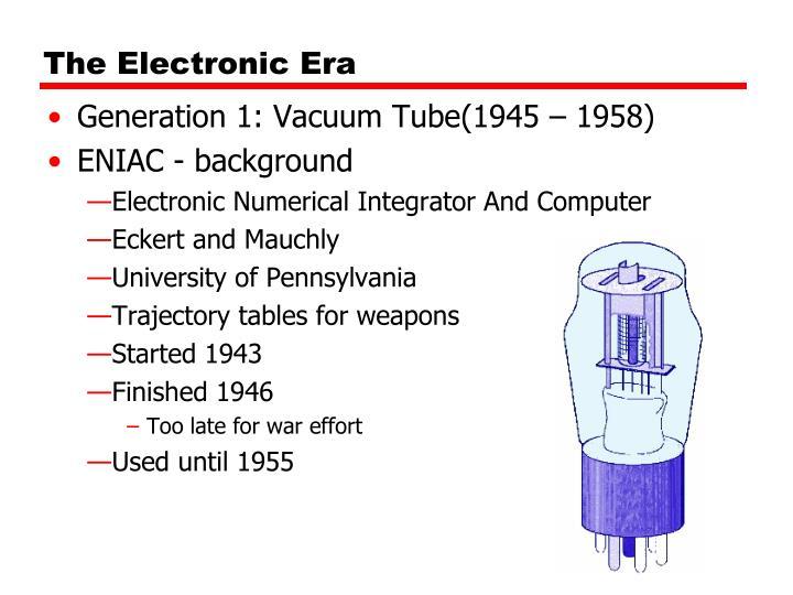 The Electronic Era