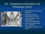 vii renaissance education and philosophy cont1