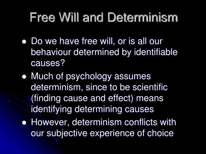 free will and determinism can coexist As i wrote above, free will is a relative concept - that of a sentient being taking decisions to forward its will free from the influence of other wills thus, i define free will as a social rather than a purely philosophical construct, as when it is used in the latter sense, i find it to be meaningless.
