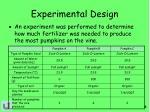 experimental design1